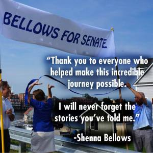 """Conclusion of """"Walk with ME"""" Photo from Shenna Bellows for Maine US Senate"""